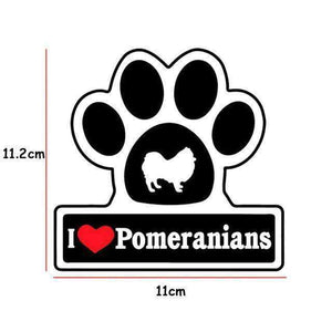 I LOVE Pomeranian's Dog Decal - Life is complete with Dogs