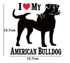 I love My American Bulldog Dog Decal - Life is complete with Dogs