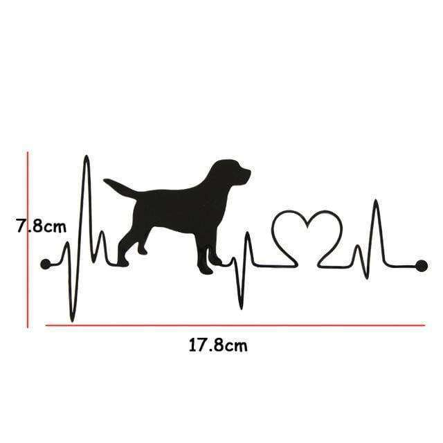 Labrador Retriever Heartbeat Love Decal - Life is complete with Dogs