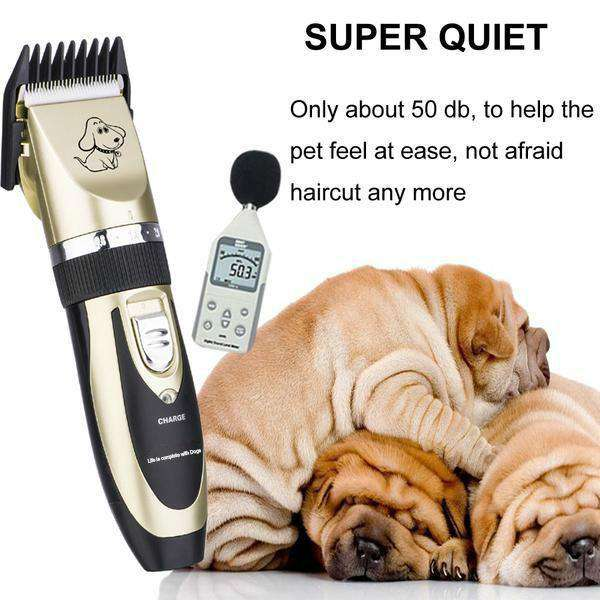 The Worlds Best Professional Rechargeable Pet Trimmer - Life is complete with Dogs