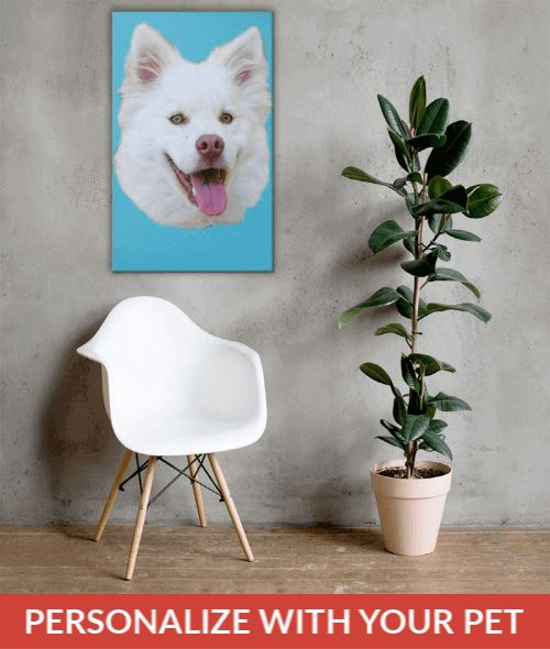 Personalized Canvas  With your Pet's Face On It