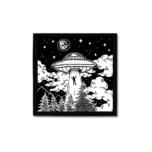 Alien Abduction canvas patch
