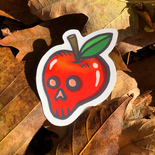 Bad Apple clear vinyl sticker