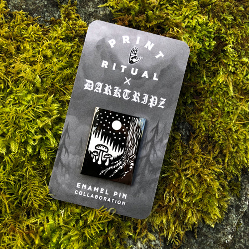 Darktripz enamel pin
