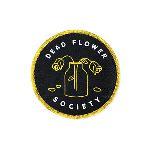 Dead Flower Society embroidered patch