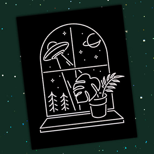 UFO Monstera  canvas patch