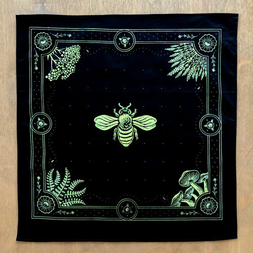 Honey Bee Bandana - black & gold