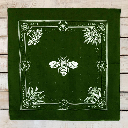 Honey Bee bandana - Olive