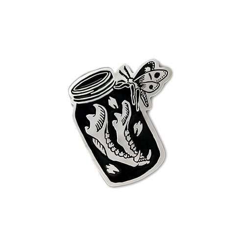 Jaw Bone in Jar enamel pin