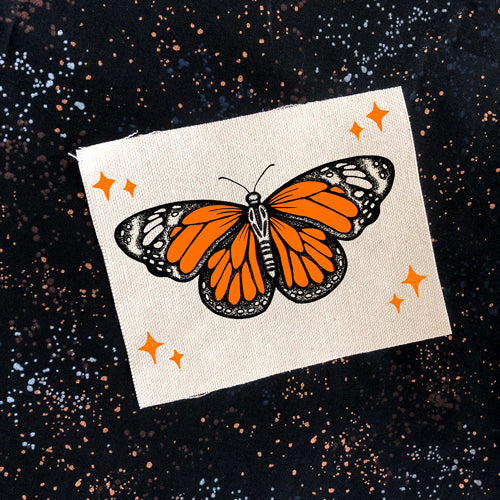 Monarch Butterfly canvas patch