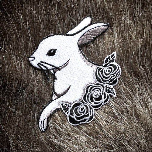 Rabbit with Roses patch