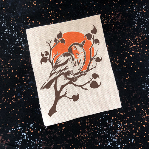Robin On Branch canvas patch