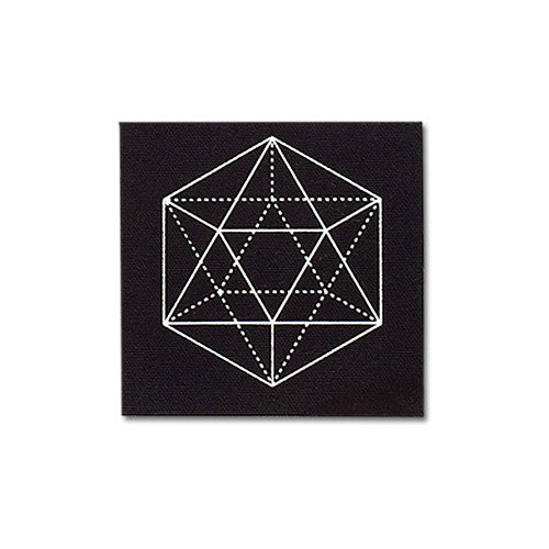 Tetrahedron canvas patch