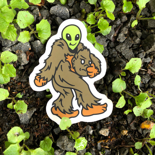 Sasquatch Alien vinyl sticker