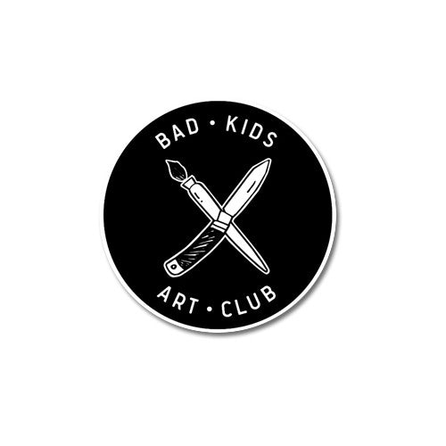 Bad Kids Art Club embroidered patch