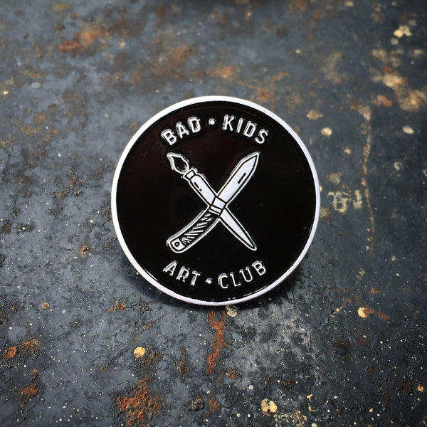 Bad Kids Art Club enamel pin
