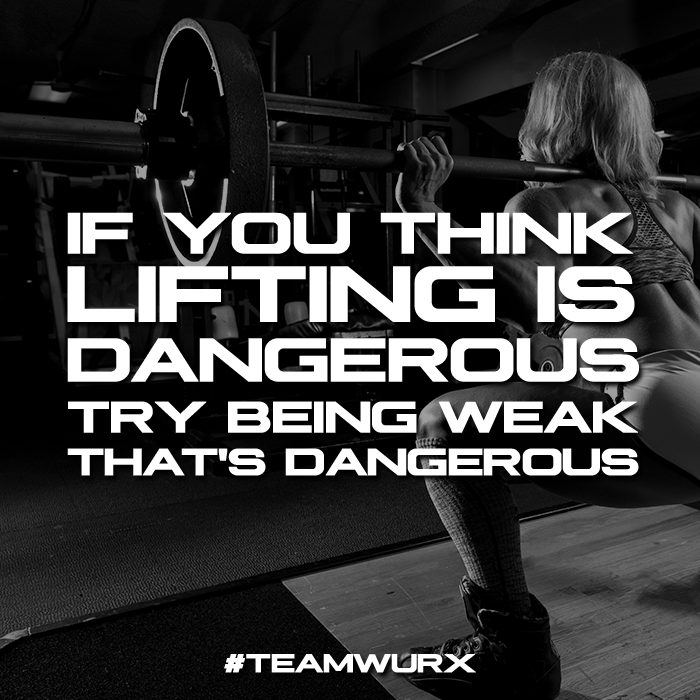If you think lifting weights is dangerous try being weak, that's dangerous | 8 Gym Quotes for Inspiration
