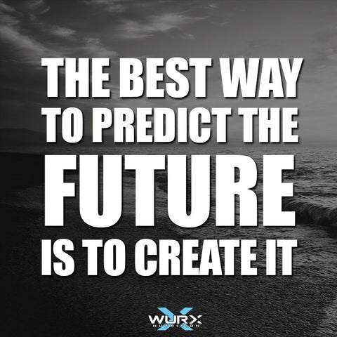Motivational quote | The Best way to predict the future is to create it  | Wurx Nutrition