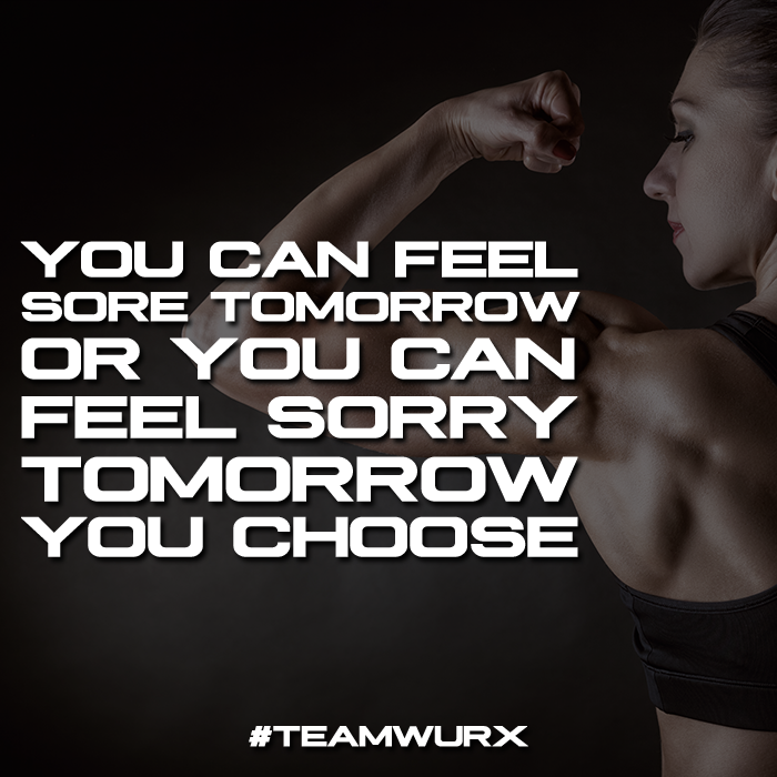 You can feel sore or sorry tomorrow, you choose | 8 Gym Quotes for Inspiration