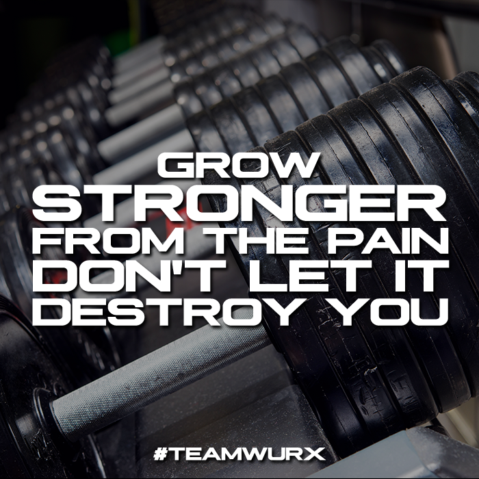 Grow Stronger from the pain don't let it destroy you | 8 Gym Quotes for Inspiration