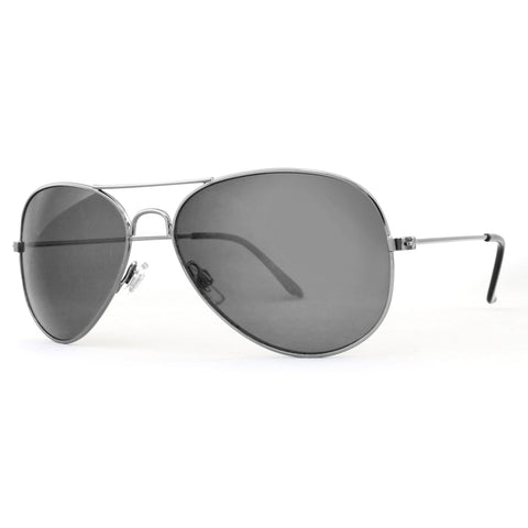 2713 Polarised Chrome Silver  Frame in Smoke Lens