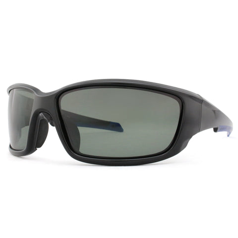 3311 Polarised gloss black and blue rubber , smoke lens