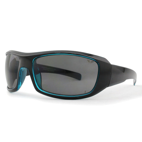 S3525 Matt Black and Blue with Grey Lens