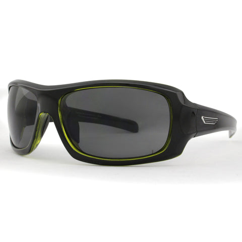 S3526 Gloss Black and Green with Grey Lens