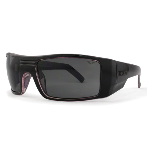 S3573 Gloss Black Exterior and Purple Interior Frame with Grey Lens