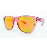 3594 Pink Transparent in Yellow Mirror Lens