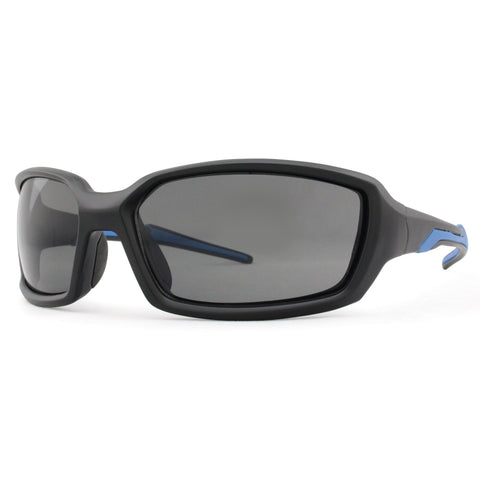 3696 Polarised matt black color frame in blue mirror lens