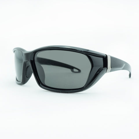 3784 Polarised Glossy black smoke lens