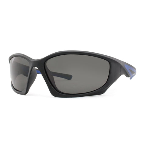 3800  Polarised Matt Black with blue rubber