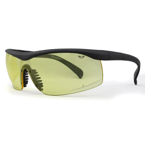S3809 Black with Transparent Yellow Lens