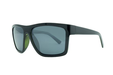 3879 Matt Black Green Gray lens