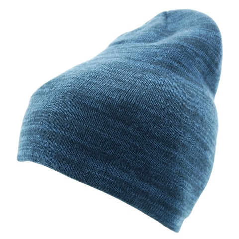 WINTER - Beanie In Blue Contrast Coloured Rib
