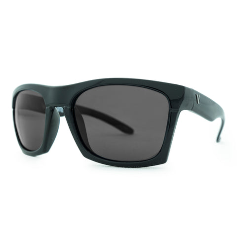 3876 Polarised gloss black with smoke lens