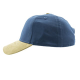 SUMMER CAPS- Baseball Cap in Navy Blue & Brown