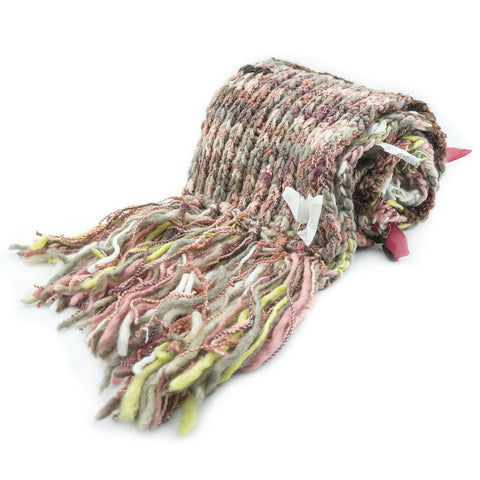 Freesia Ladies Mix Color Scarf with Attached Chunky Fabrics