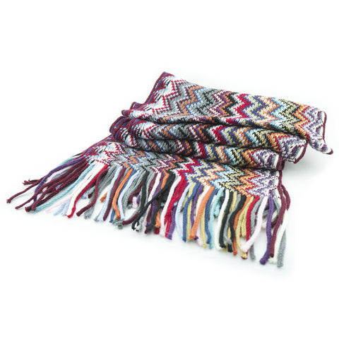Heather Scarf Ladies Mix Color Scarf with Fringing