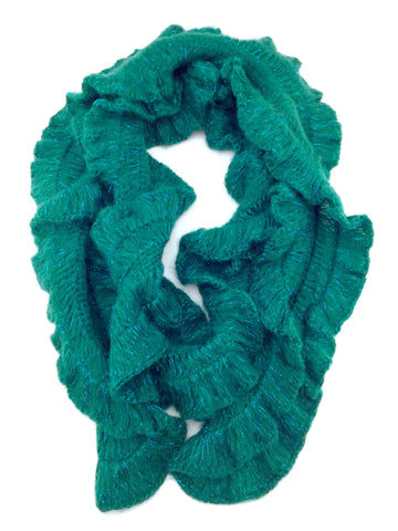 Limbo Ladies Lacy Knit Scarf in Green Color