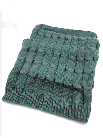 Sabah Unisex Cable Knit Scarf in  Atlantic Deep Color