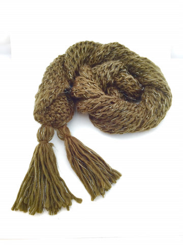 Skylar Ladies Knitted Scarf in Brown Color