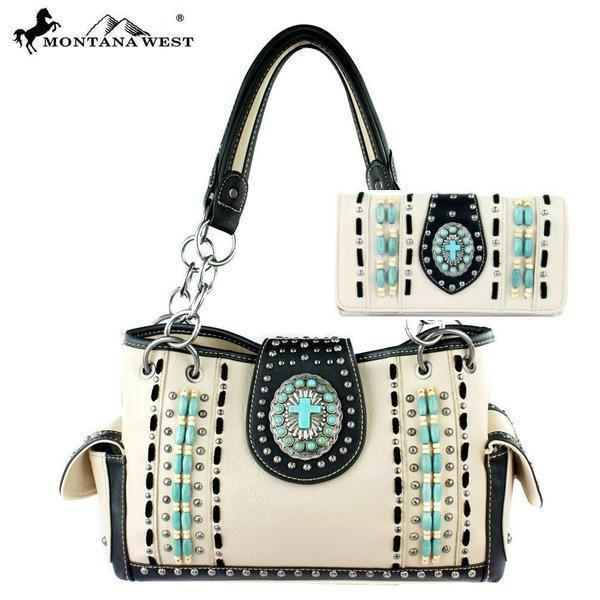 Western Handbag and Wallet Set