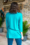 Basic Babe Teal 3/4 Sleeve Tunic