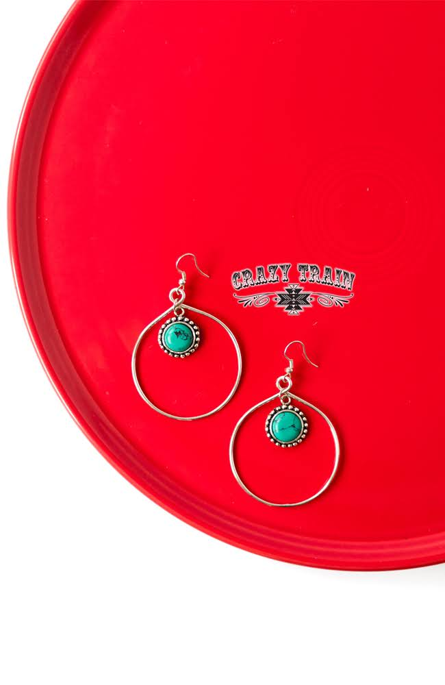Turquoise Bear Creek Earrings