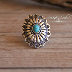 Concho and Stone Ring