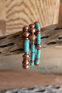 Navajo Stone Stretch Bracelet Set