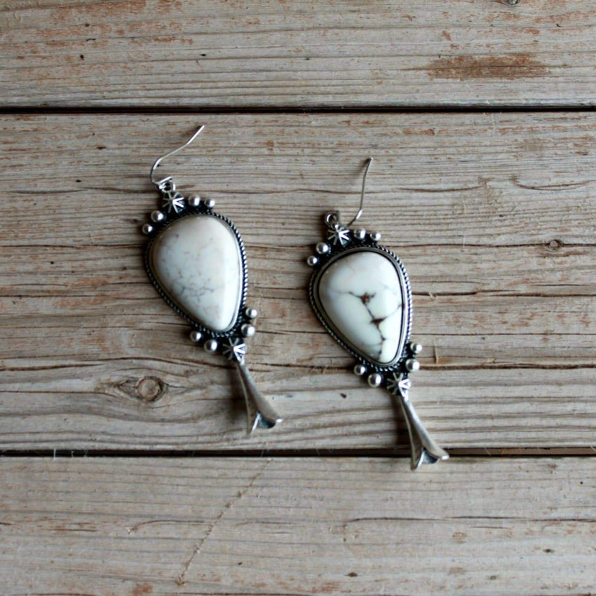 Dry Creek Squash Blossom Earrings