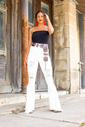 Ivory's Distressed Bell Bottoms